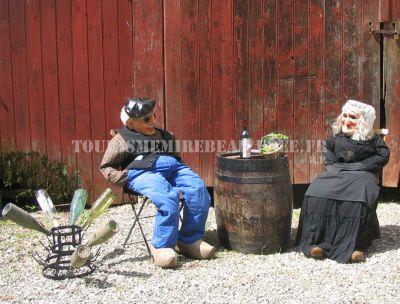 Décors pour la fête du vin de Blagny