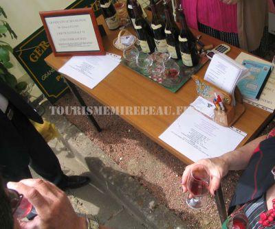 Dégustation aux stands de la foire aux vins de Blagny