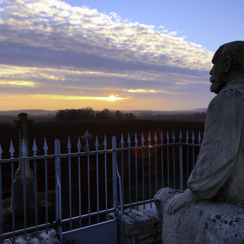 La tombe du Père Lerat à Fontenelle ©M. Trésillard