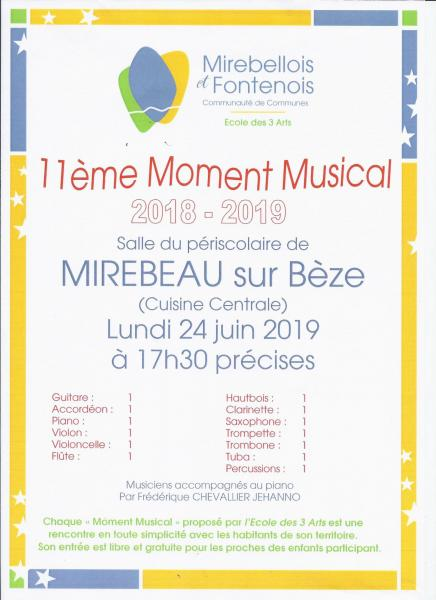 Affiche 11e moment musical