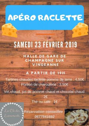 Affiche apero raclette champagne 23 02 19