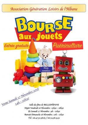 Affiche bourse aux jouets belleneuve 17 11 18
