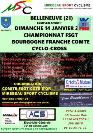 Affiche championnat cyclocross bell 14 01 18