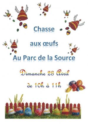 Affiche chasse oeufs beze 28 04 19