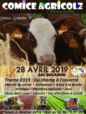 Affiche comice agricole 28 04 19