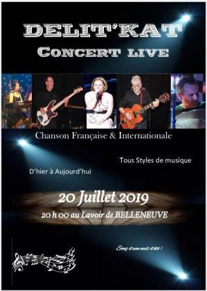 Affiche concert delit kat belleneuve 20 07 19