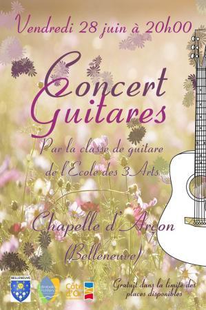 Affiche concert guitares arcon 28 06 19