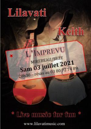 Affiche concert lilavati keith imprevu 03 07 21