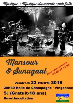 Affiche concert mansout et sunugaal 23 03 18