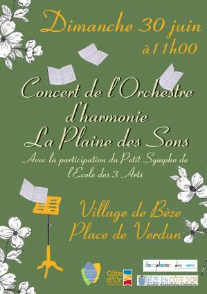 Affiche concert plaine de son beze 30 06 19