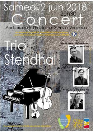 Affiche concert trio stendhal 02 06 18