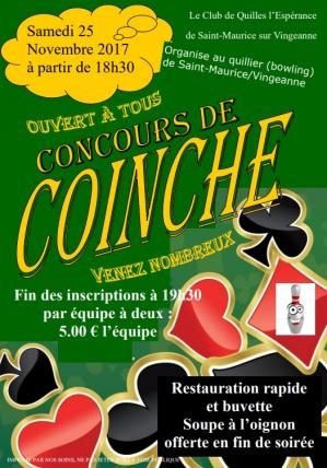 Affiche concours de coinche 25 11 17