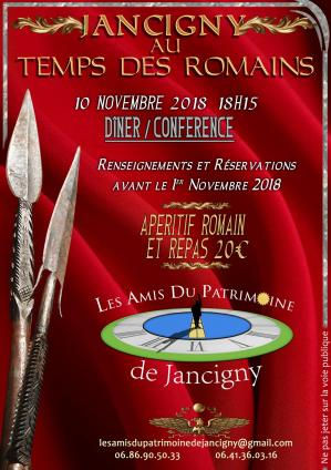 Affiche conference jancigny romains 10 11 18