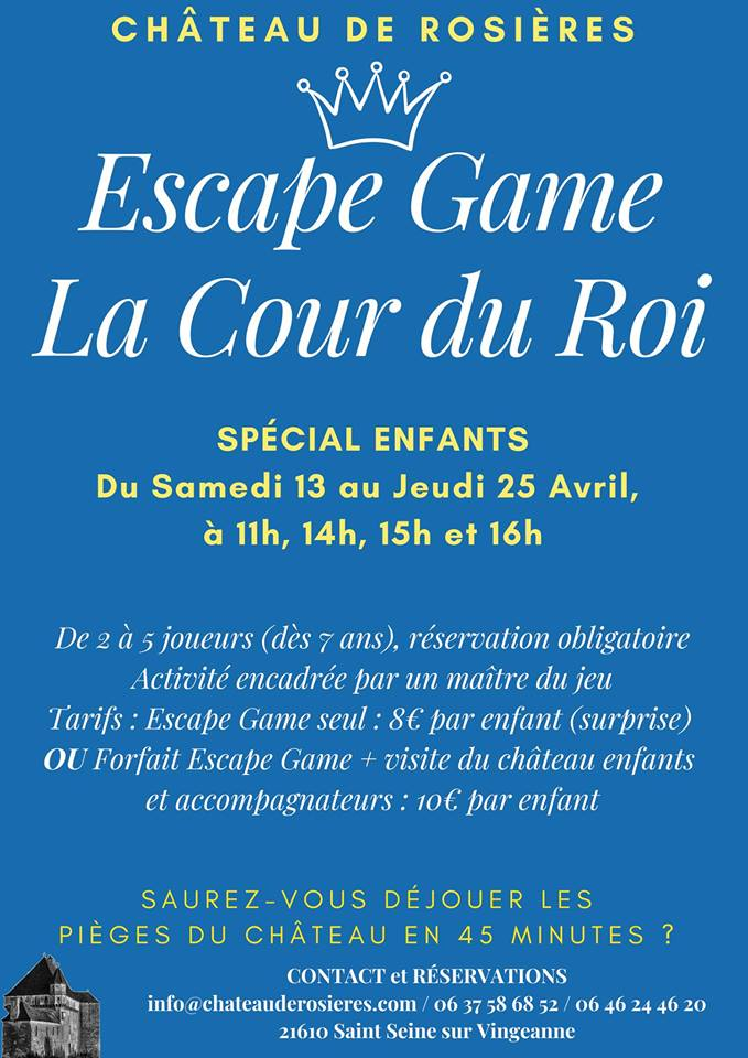 Affiche escape game rosieres 13 25 04 19