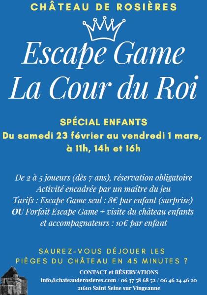 Affiche escape game rosieres fev mars 2019