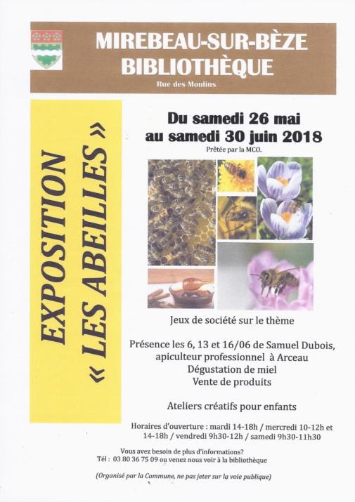 Affiche expo abeilles bilbio mir mai 2018