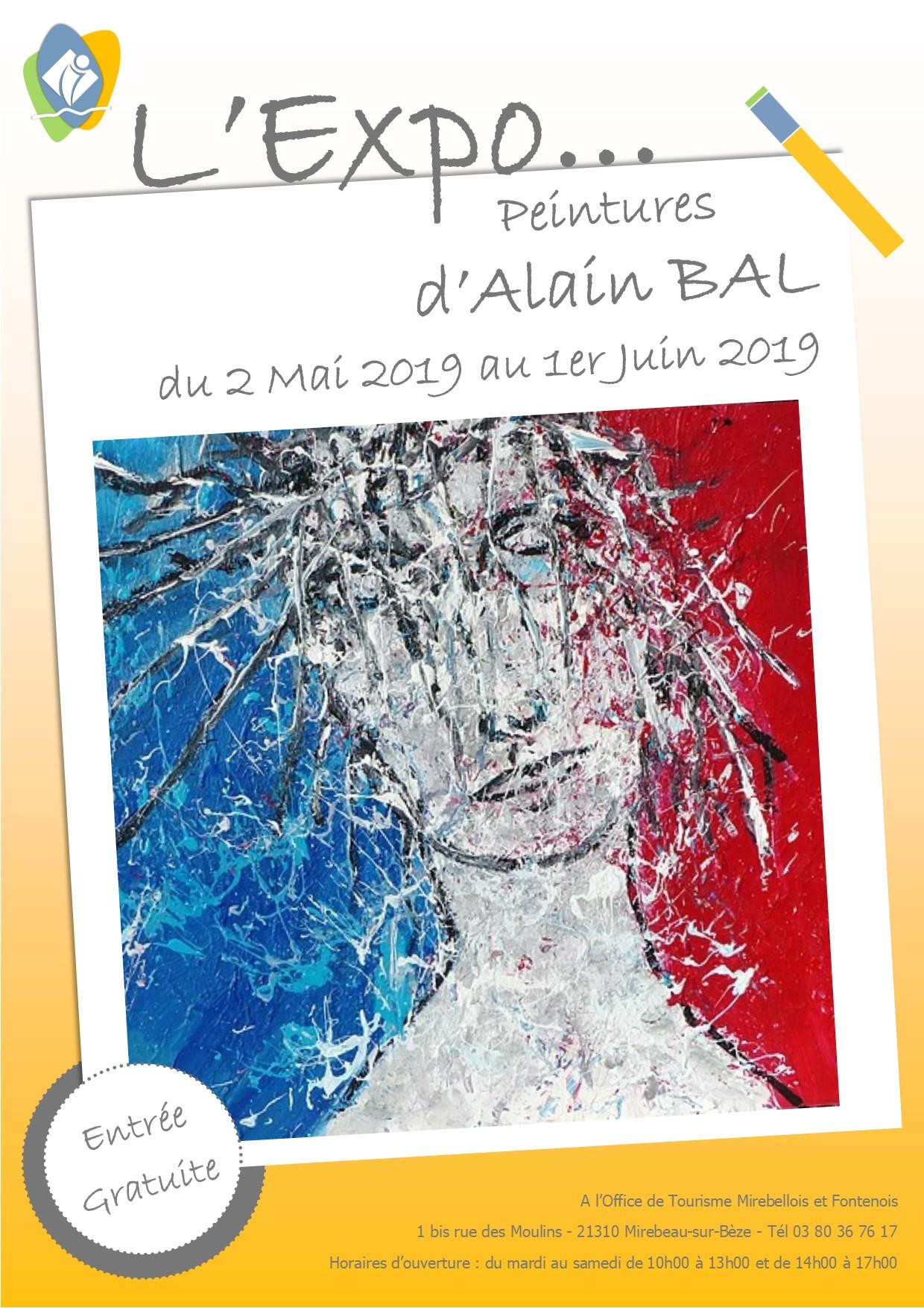 Affiche expo alain bal