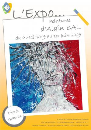Affiche expo alain bal