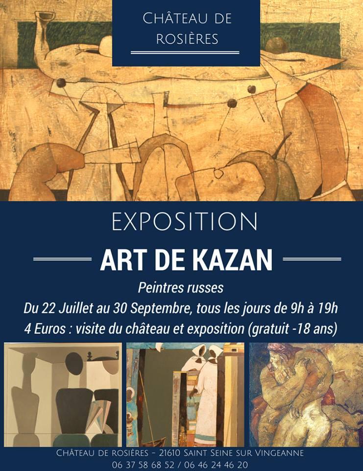 Affiche expo art kazan rosieres 2018