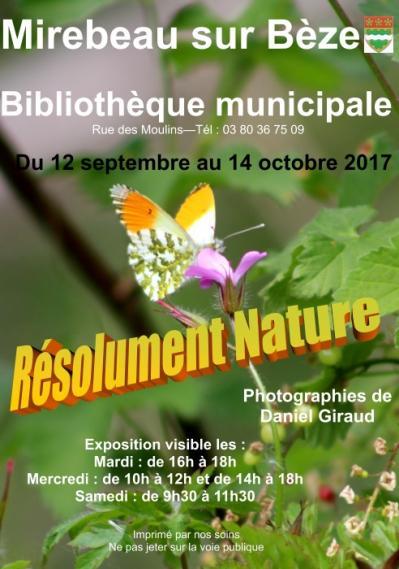 Affiche expo biblio nature sept oct 17