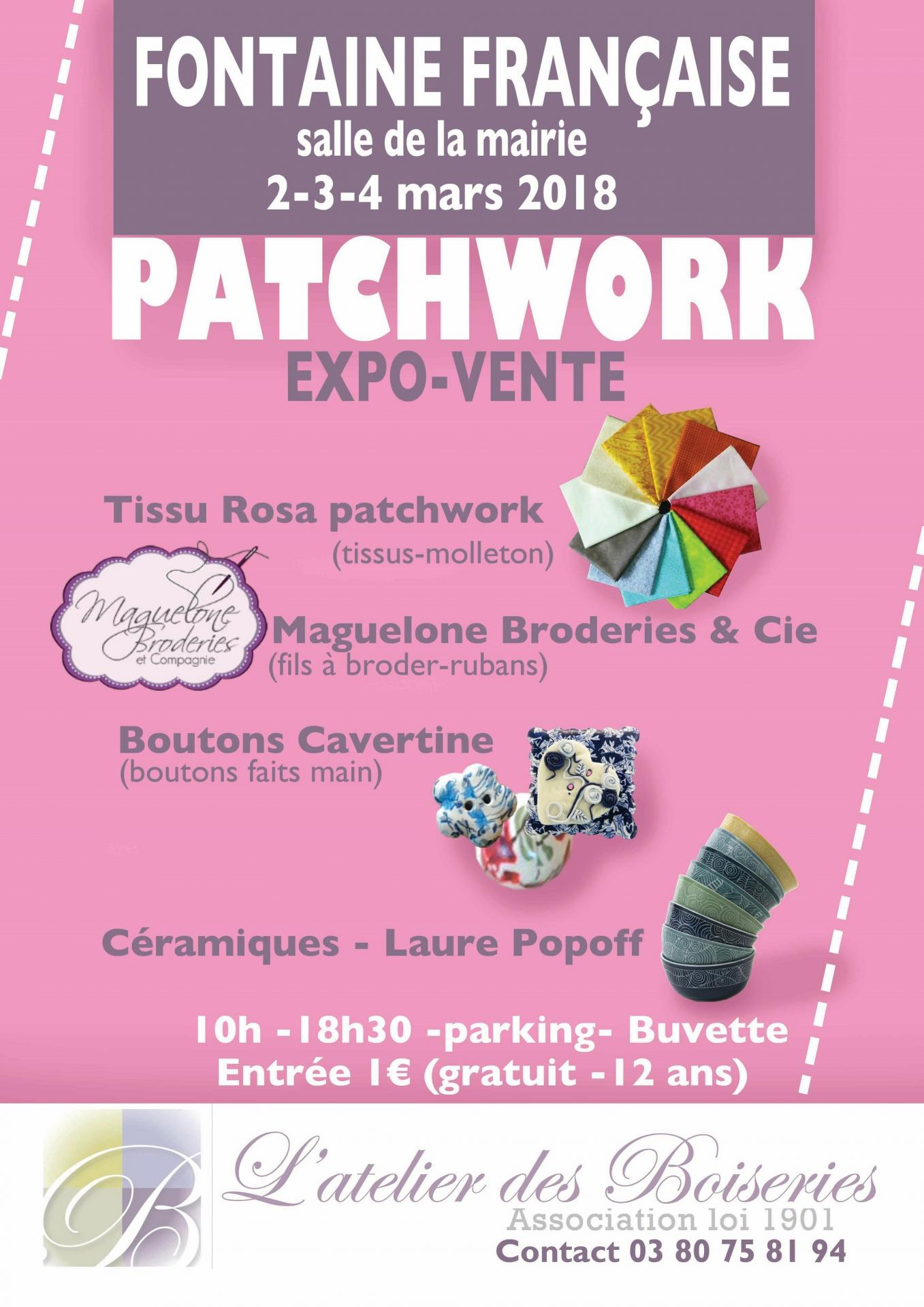 Affiche expo broderie fontaine francaise 2 3 4 mars 2018