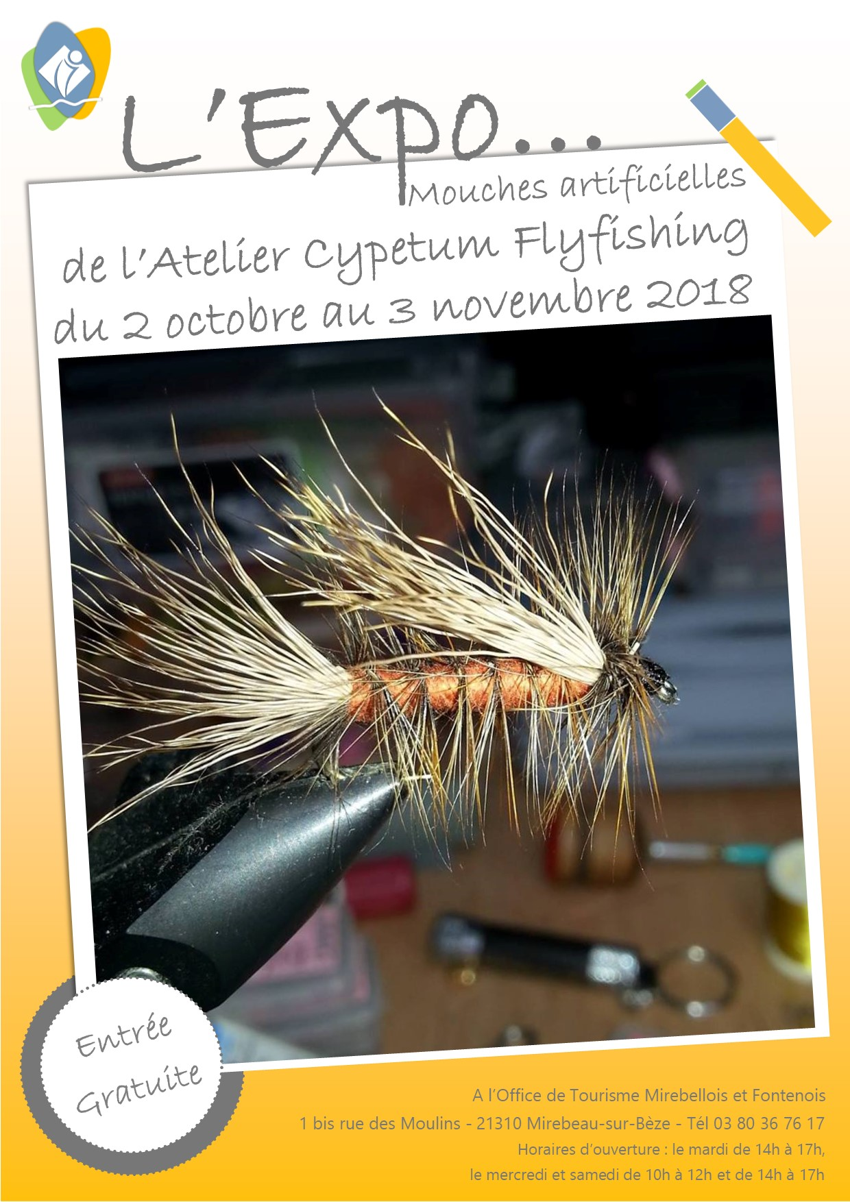 Affiche expo cypetum flyfishing oct 18