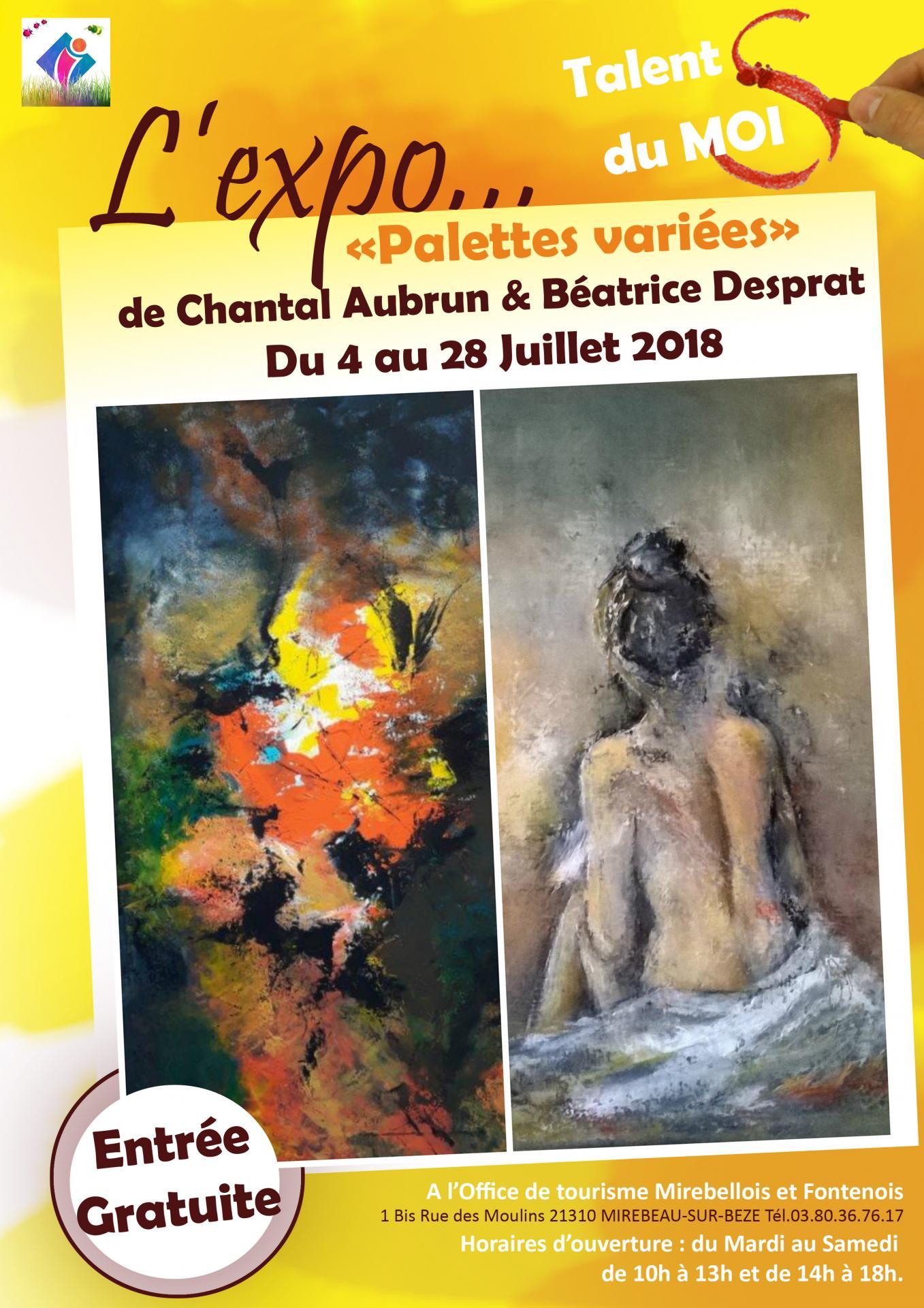 Affiche expo desprat aubrun 2
