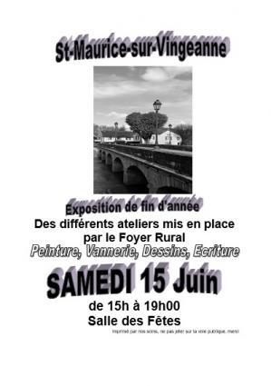 Affiche expo foyer rur st maurice 15 06 19