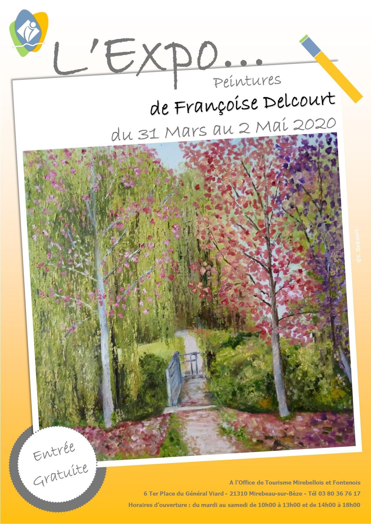 Affiche expo francoise delcourt 2