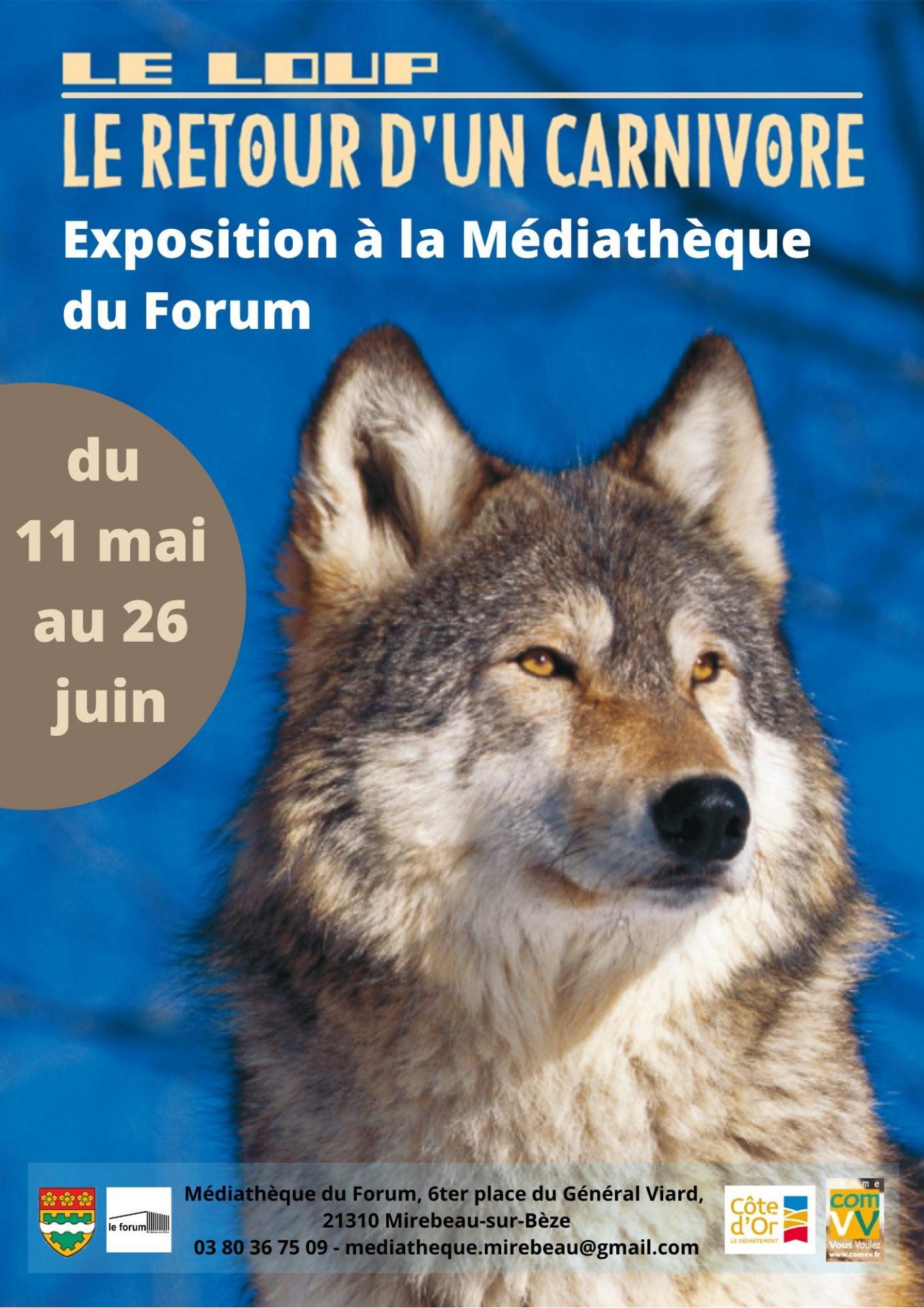Affiche expo le loup mai juin 2021