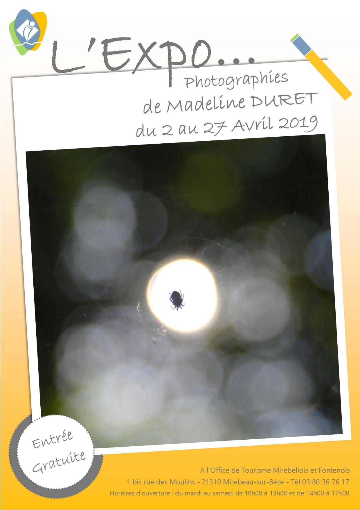 Affiche expo madeline duret 1
