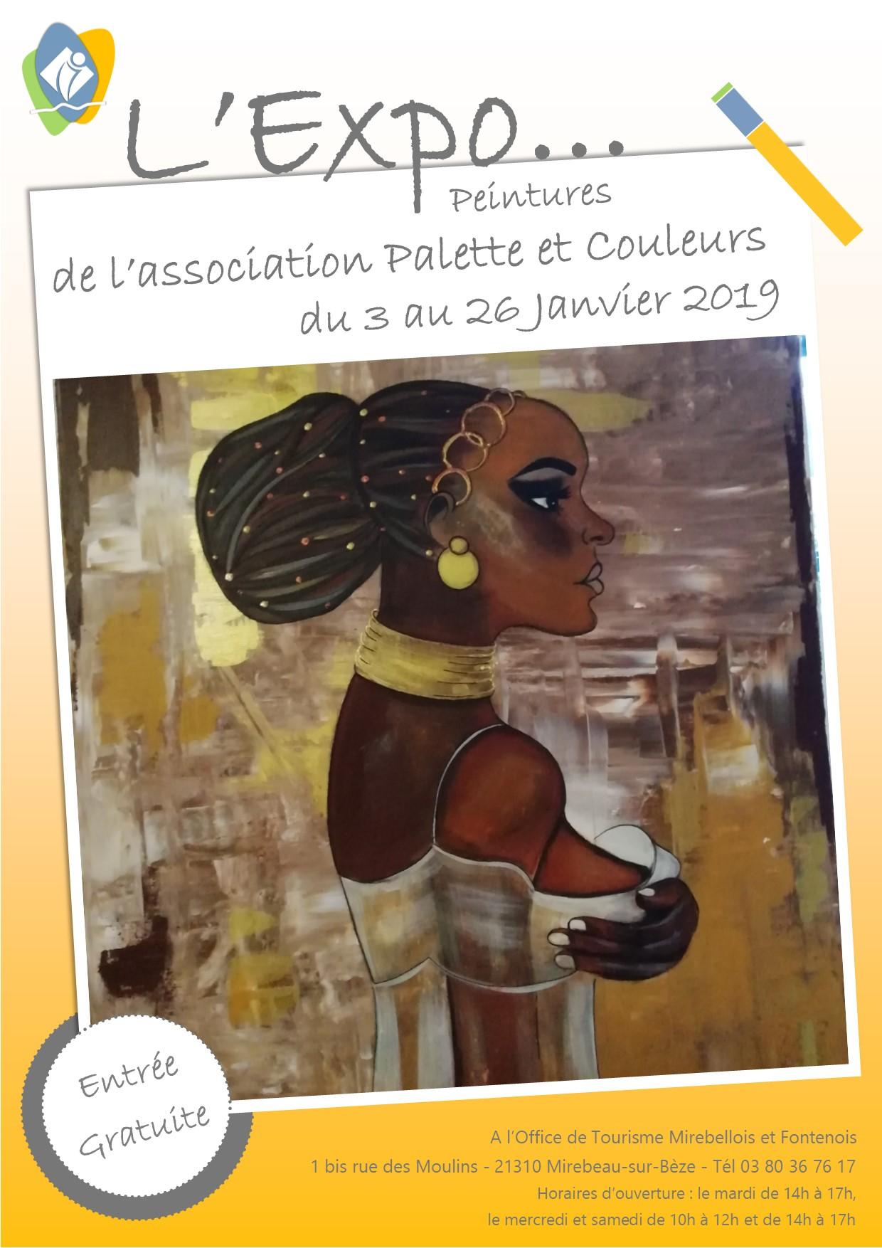 Affiche expo palette et couleurs