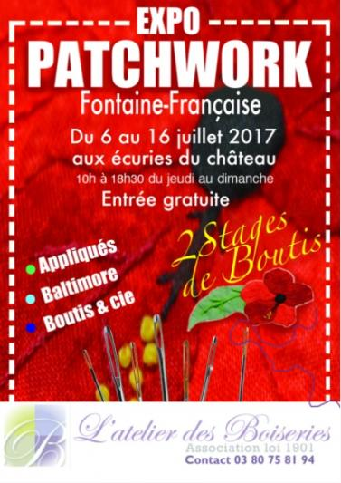Affiche expo patchworks ff 6 16 07 17