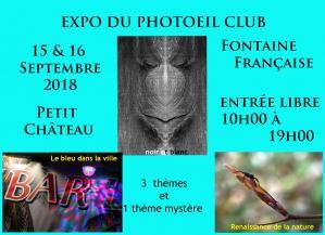 Affiche expo photoeil club 15 16 09 18