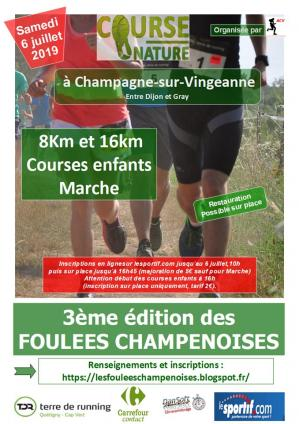 Affiche foulees champenoises 06 07 19