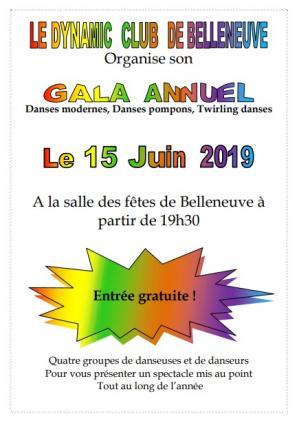 Affiche gala dynamic club belleneuve 15 06 19