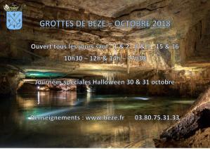 Affiche journees halloween grottes 30 31 10 18