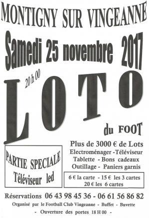 Affiche loto du 25 11 2017