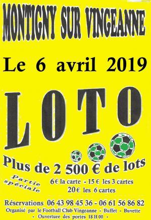 Affiche loto fcv 06 04 19