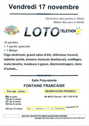 Affiche loto telethon ff 17 11 17