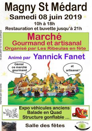 Affiche marche gourmand ribeulas 08 06 19