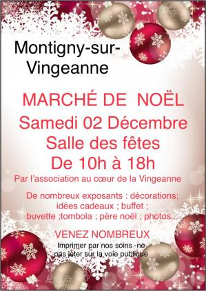 Affiche marche noel montigny 02 12 18