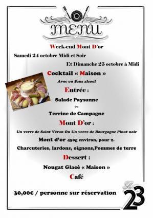 Affiche menu mont d or le 23 24 25 10 20