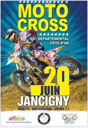 Affiche motocross jancigny 20 06 21