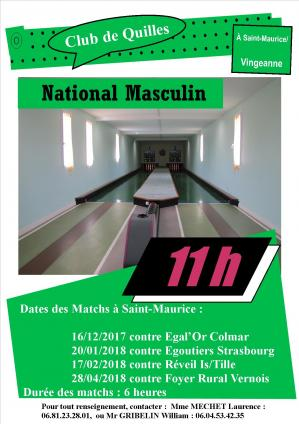 Affiche national masculin 2017 st maurice