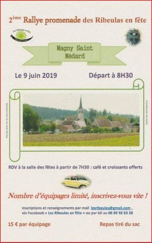 Affiche rallye promenade ribeulas 09 06 19