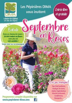 Affiche septembre en roses dima sept 2021