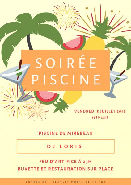 Affiche soiree piscine 05 07 2019