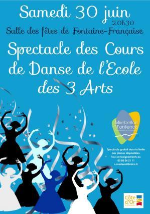 Affiche spectacle ecole danse 30 06 18