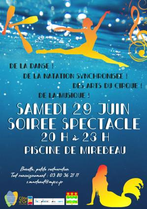 Affiche spectacle piscine mir 29 06 19